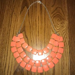 Boutique Coral Layered Beaded Necklace
